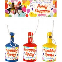 Party Poppers Pack of 12