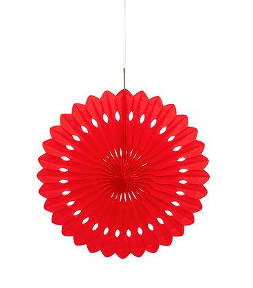"""Red 16"""" Paper Fan"""