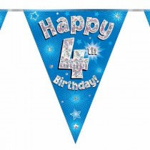 Blue Age 4 Bunting