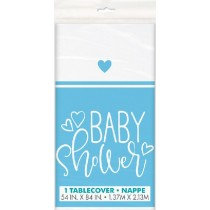Blue Baby Shower Table Cover