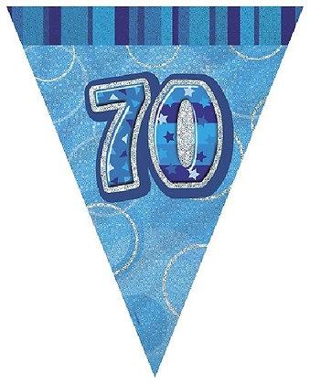 Blue Glitz Age 70 Bunting