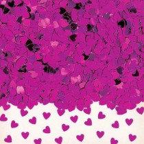Magenta Heart Confetti