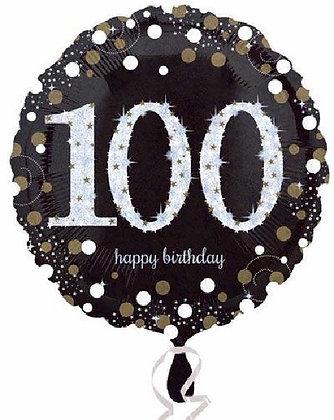 Gold Sparkle Age 100 Foil Balloon