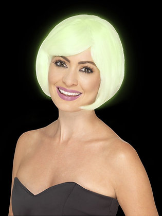 Glow in the Dark Bob Party Wig