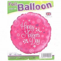 Dappled Flowers Mothers Day Std Foil Balloon