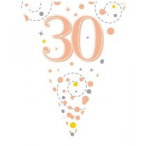 Rose Gold Age 30 Bunting