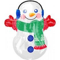 Adorable Snowman Jnr Shape Balloon