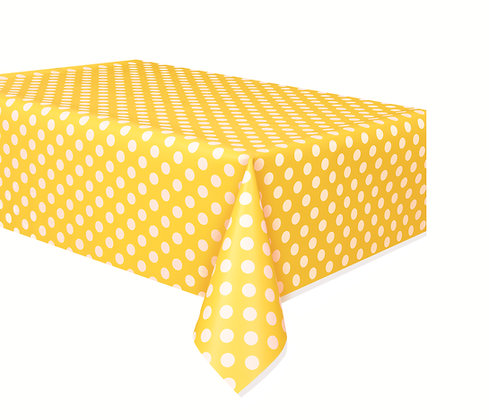 Yellow Dotty Tablecover