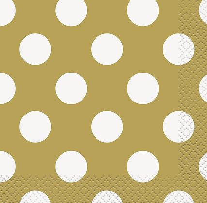 Gold Dotty Napkins