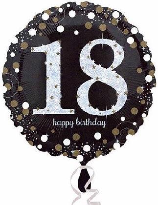 Gold Sparkle Age 18 Foil Balloon