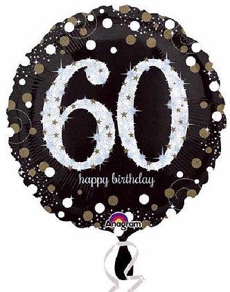 Gold Sparkle Age 60 Foil Balloon