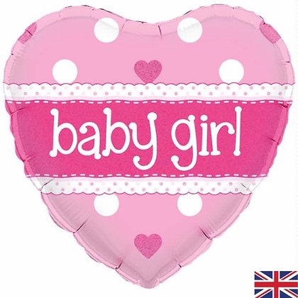 Pink Baby Girl Foil Balloon