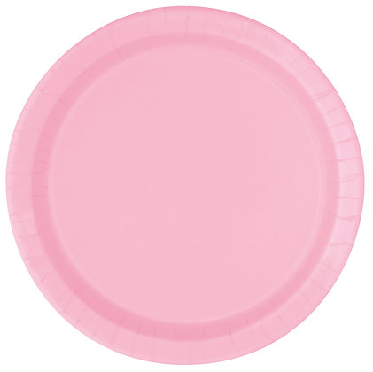 "Pink 9"" Paper Plates"