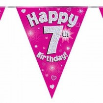 Pink Age 7 Bunting