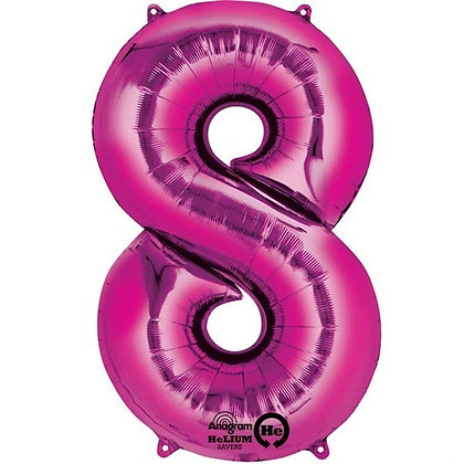 Pink Giant Number 8 Foil Balloon