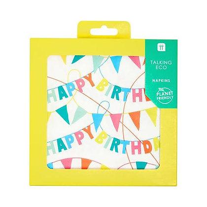 Rainbow Eco Happy Birthday Napkins
