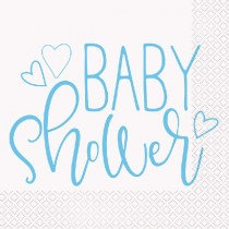 Blue And White Baby Shower Napkins