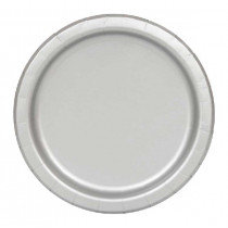 Silver 7 inch Paper Plates