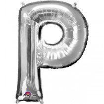 Super Shape Silver Letter P