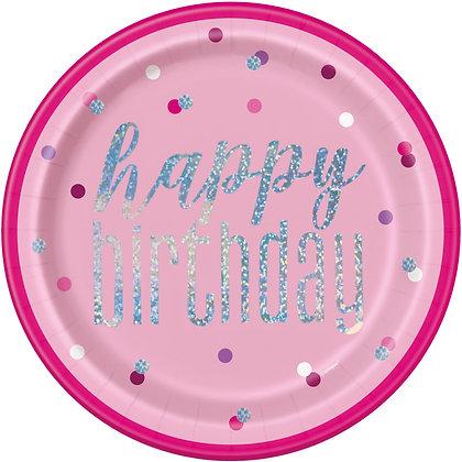 New Glitz Pink Plates