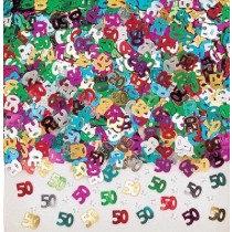 Multi-Colour Age 50 Confetti