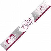 Ruby Anniversary Banner