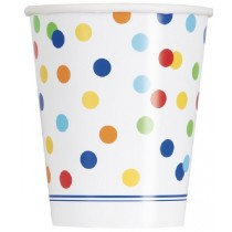 Rainbow Polka Dot Cups