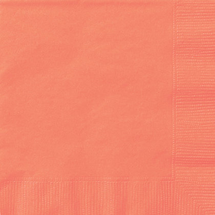 Coral Luncheon Napkins