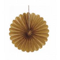 Gold Mini Paper Fans