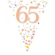 Rose Gold Age 65 Bunting