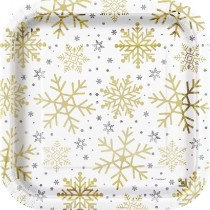 Holiday Snowflakes Large Plates
