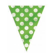 Lime Dotty Plastic Bunting