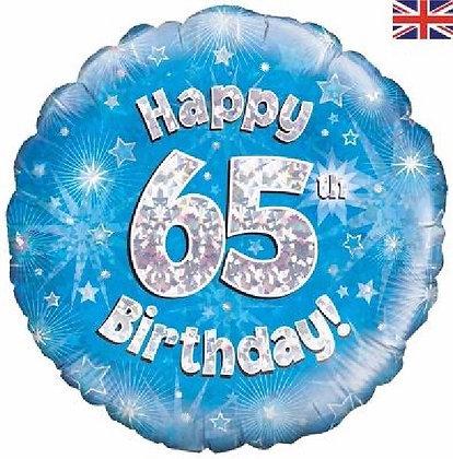 Blue Age 65 Foil Balloon