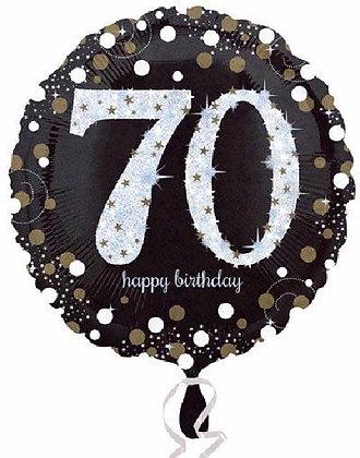 Gold Sparkle Age 70 Foil Balloon