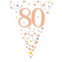 Rose Gold Age 80 Bunting