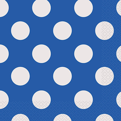 Royal Blue Dotty Napkins