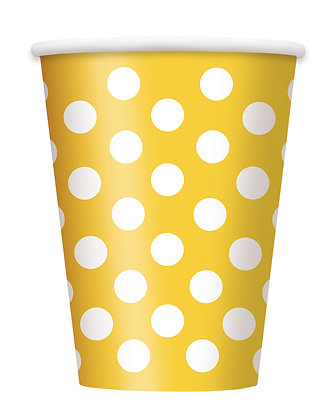 Yellow Dotty Cups