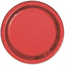 Red Metallic Plates