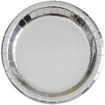 Silver Metallic Plates