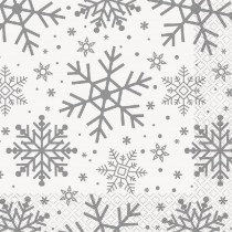 Holiday Snowflakes Napkins