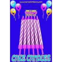 Magenta Cake Candles