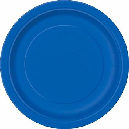 "Royal Blue 9"" Paper Plates"