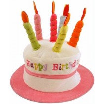 Pink Candle Birthday Hat