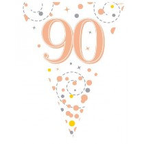 Rose Gold Age 90 Bunting