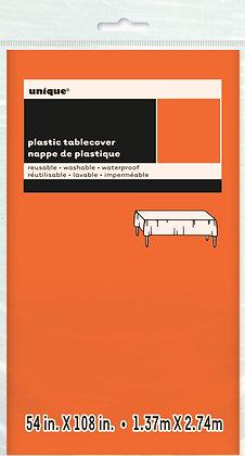 Orange Plastic Tablecover