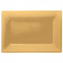 Gold Plastic Platters