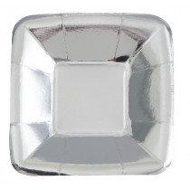 Silver Metallic Snack Trays