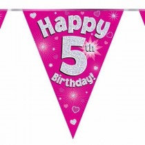 Pink Age 5 Bunting