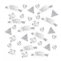 Silver Anniversary Confetti