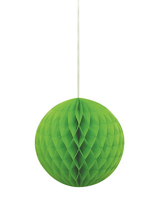 """Lime Green 8"""" Paper Honeycomb Ball"""